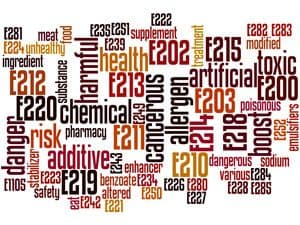 A Picture Of Toxic Ingredient Words