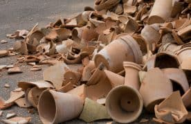 A Picture Of Exploded Clay Pots