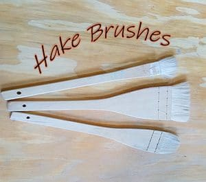 a picture of hake brushes