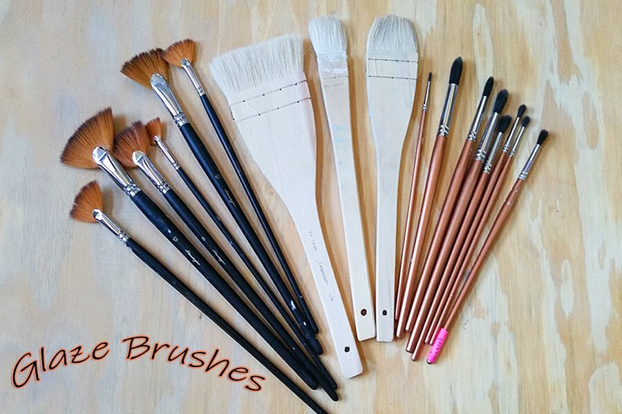 a picture of main glaze brush picture