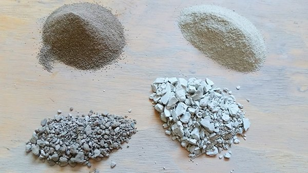 a picture of dry pottery clay