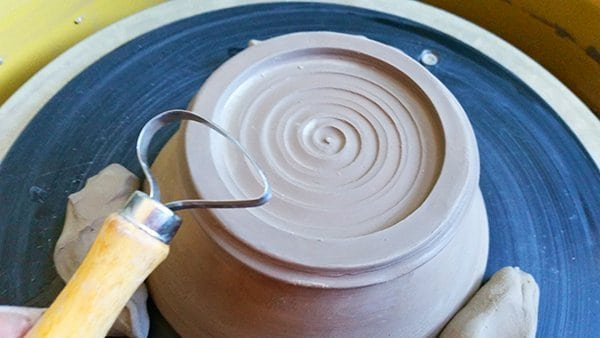 a picture of leather hard clay
