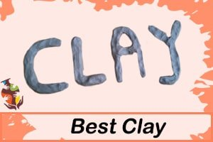 a picture of the word clay spelled with clay