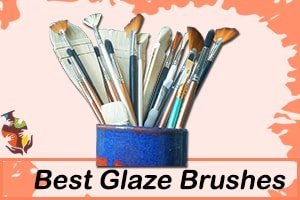a picture of a ceramic with glaze brushes
