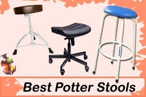 a picture of three different potter stools