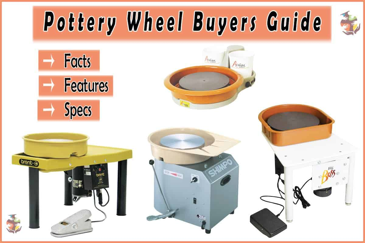 a picture of four pottery wheels