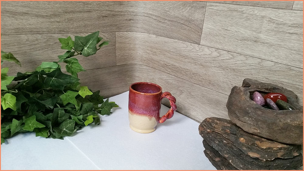 a picture of a closer picture taking area for online pottery sales