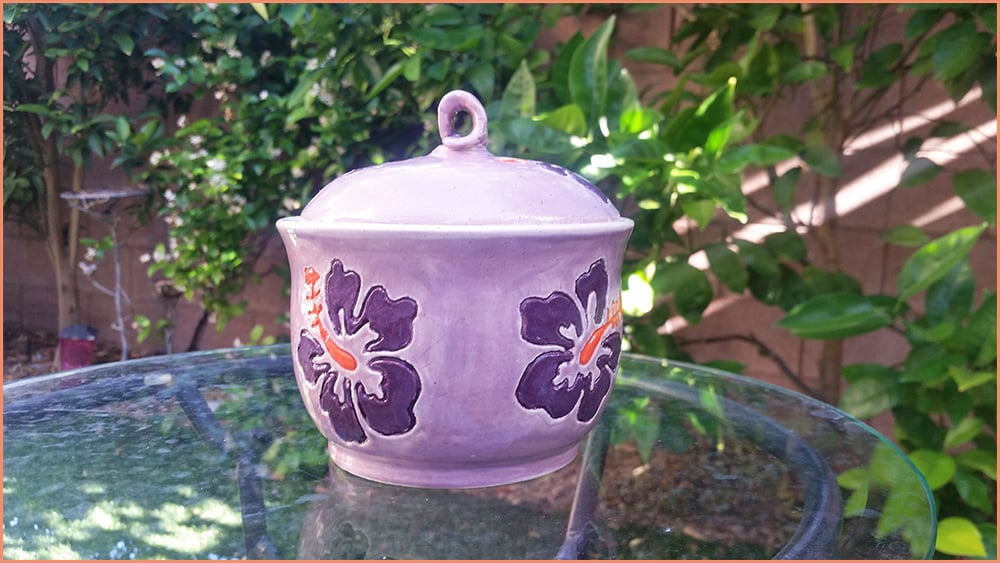 a picture of a finished underglazed jar