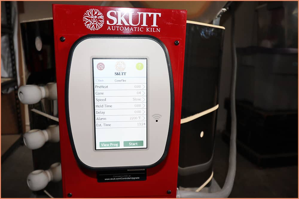 a picture of kiln controler viewing program
