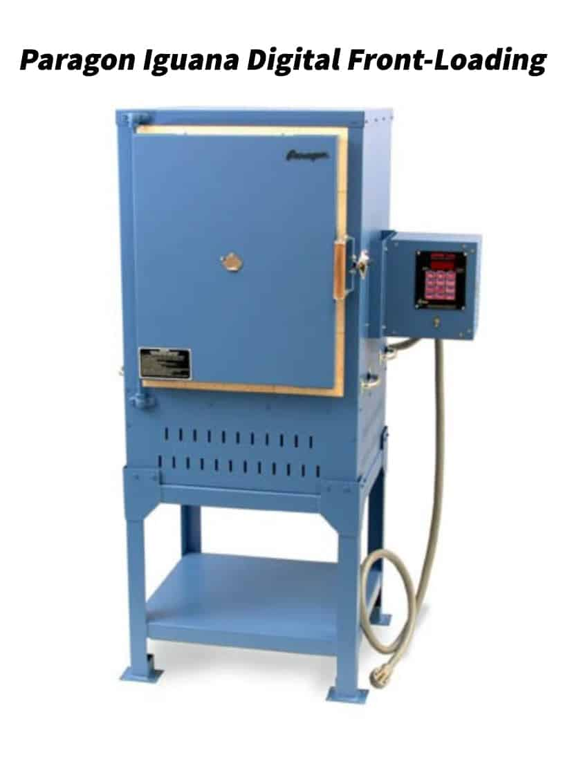 A picture of a Paragon Iguana Digital Front-Loading kiln
