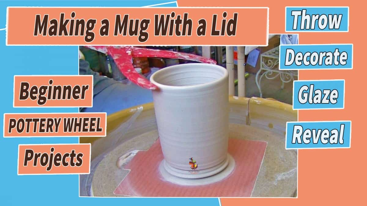 a picture of a mug on a pottery wheel