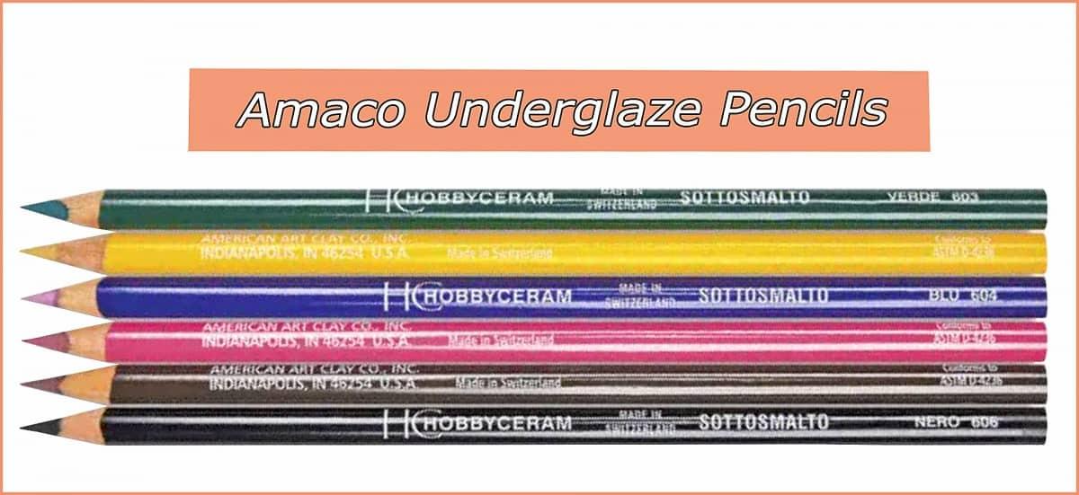 a picture of amaco underglaze pencils