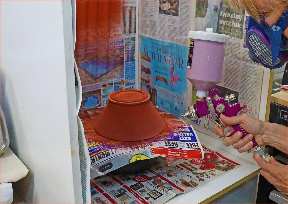 How to Spray Glaze Pottery | Pottery Glazing Tips
