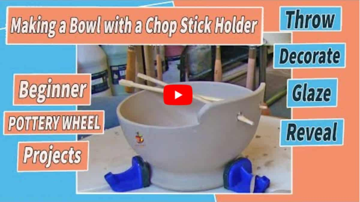 making a bowl with chopstick holders