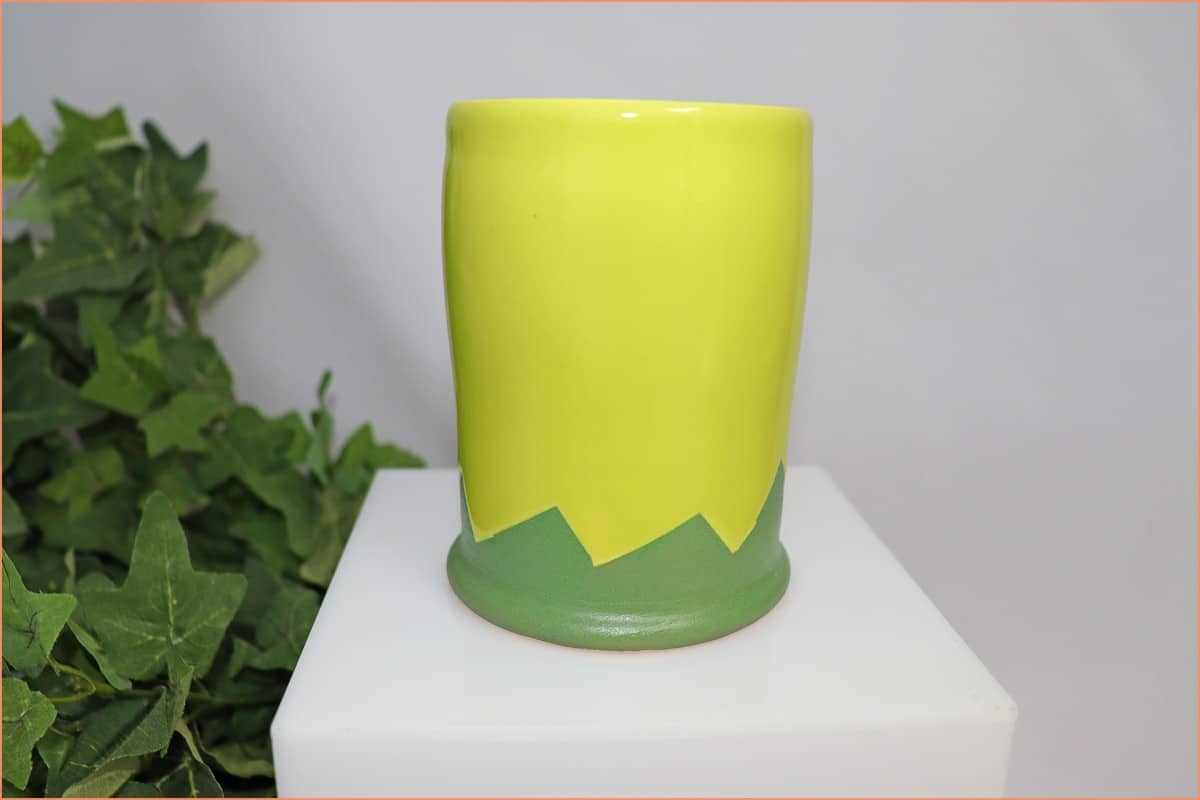 a picture of finished wax resist pottery