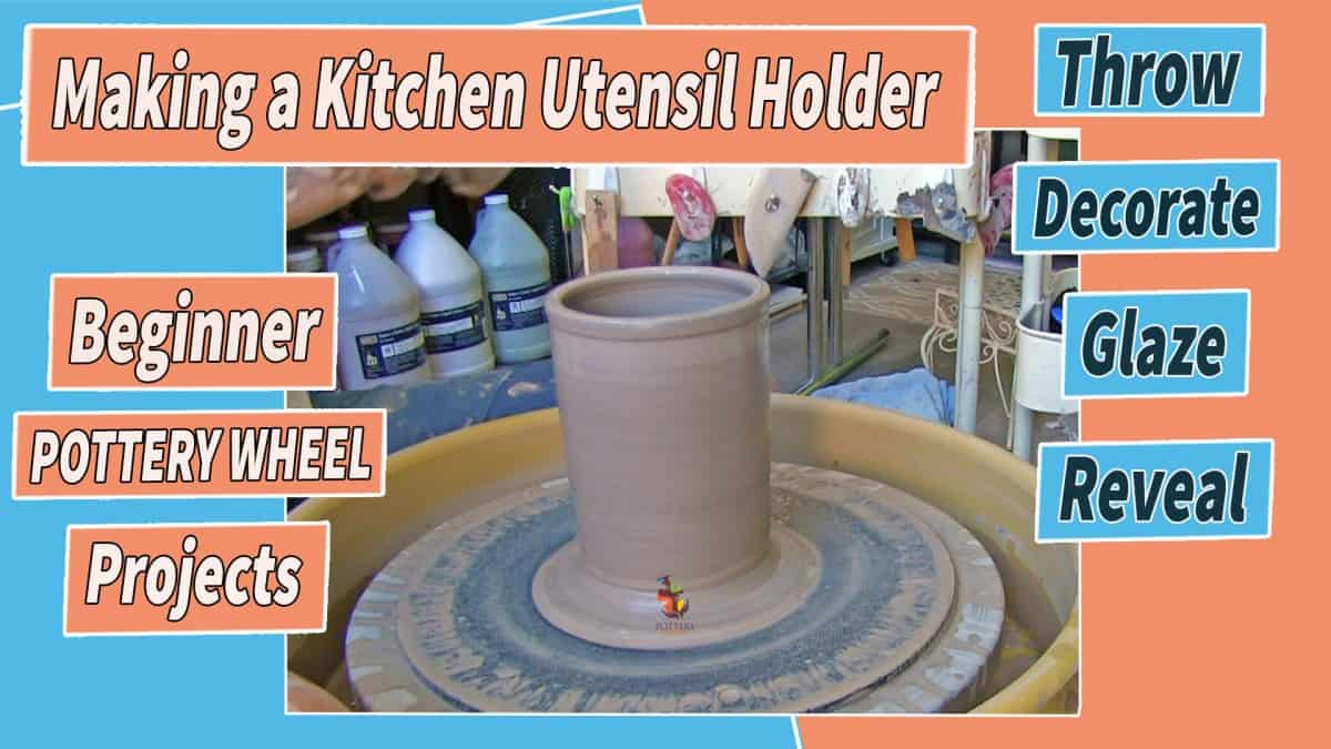 a picture of a kitchen utensil holder on a pottery wheel