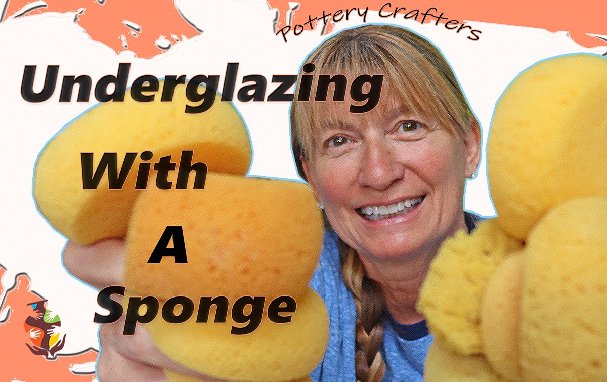 an image of a potter holding sponges