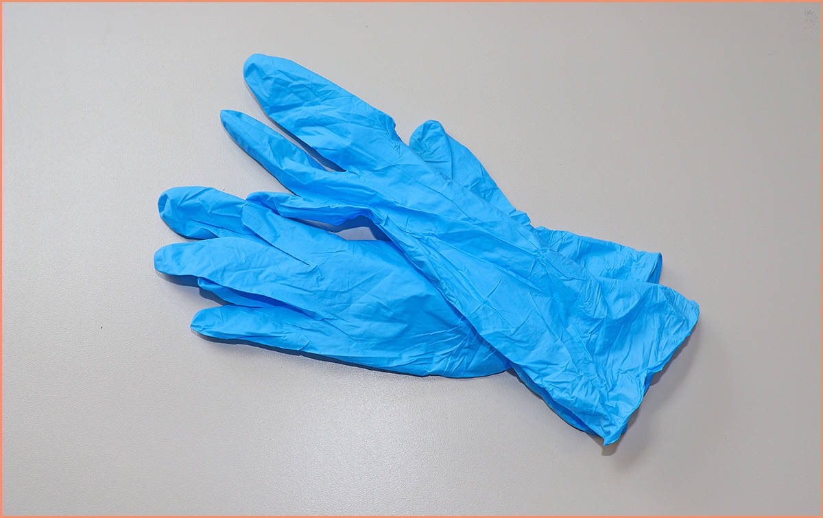 a picture of latex gloves