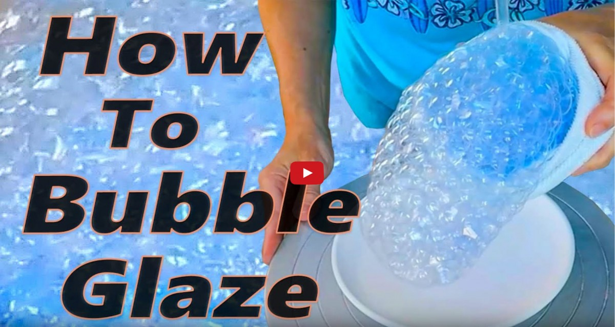 a picture of a potter using bubble glaze
