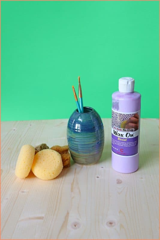 a picture of Pottery Preparation Tools: Sponges, Wax Resist