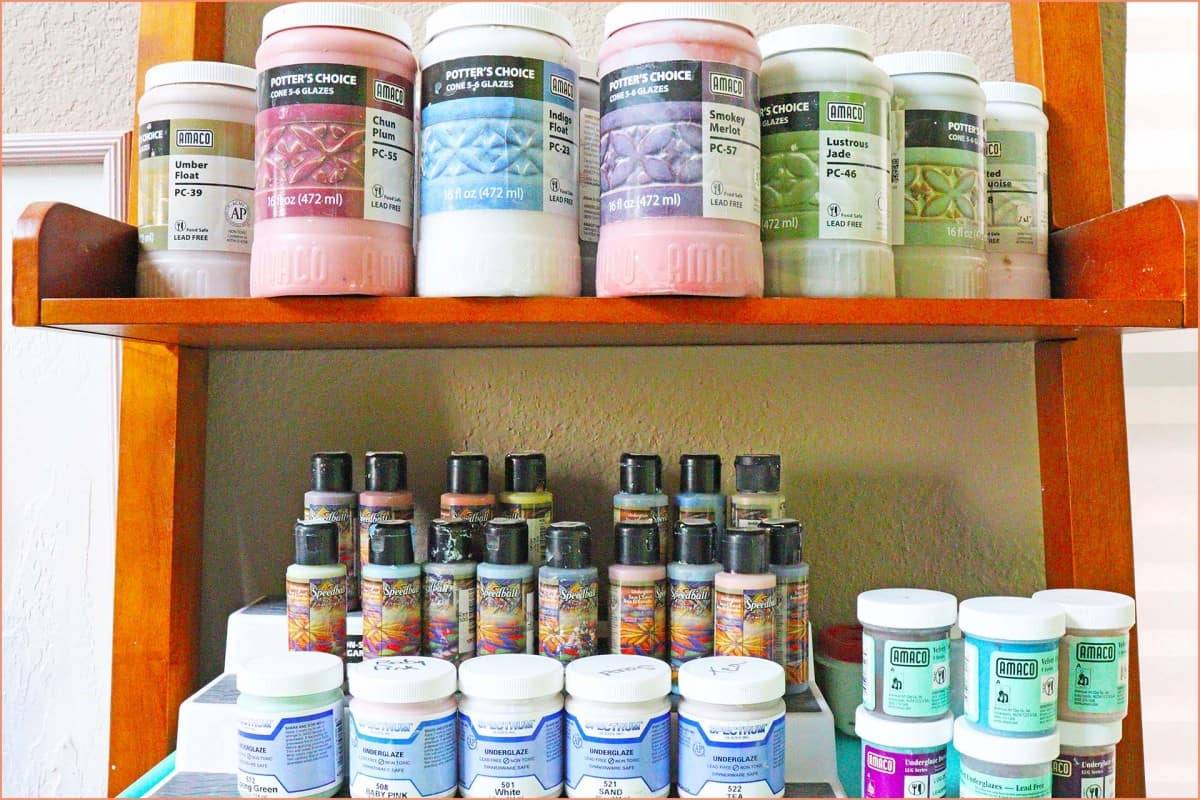 a picture of glazes and underglazes