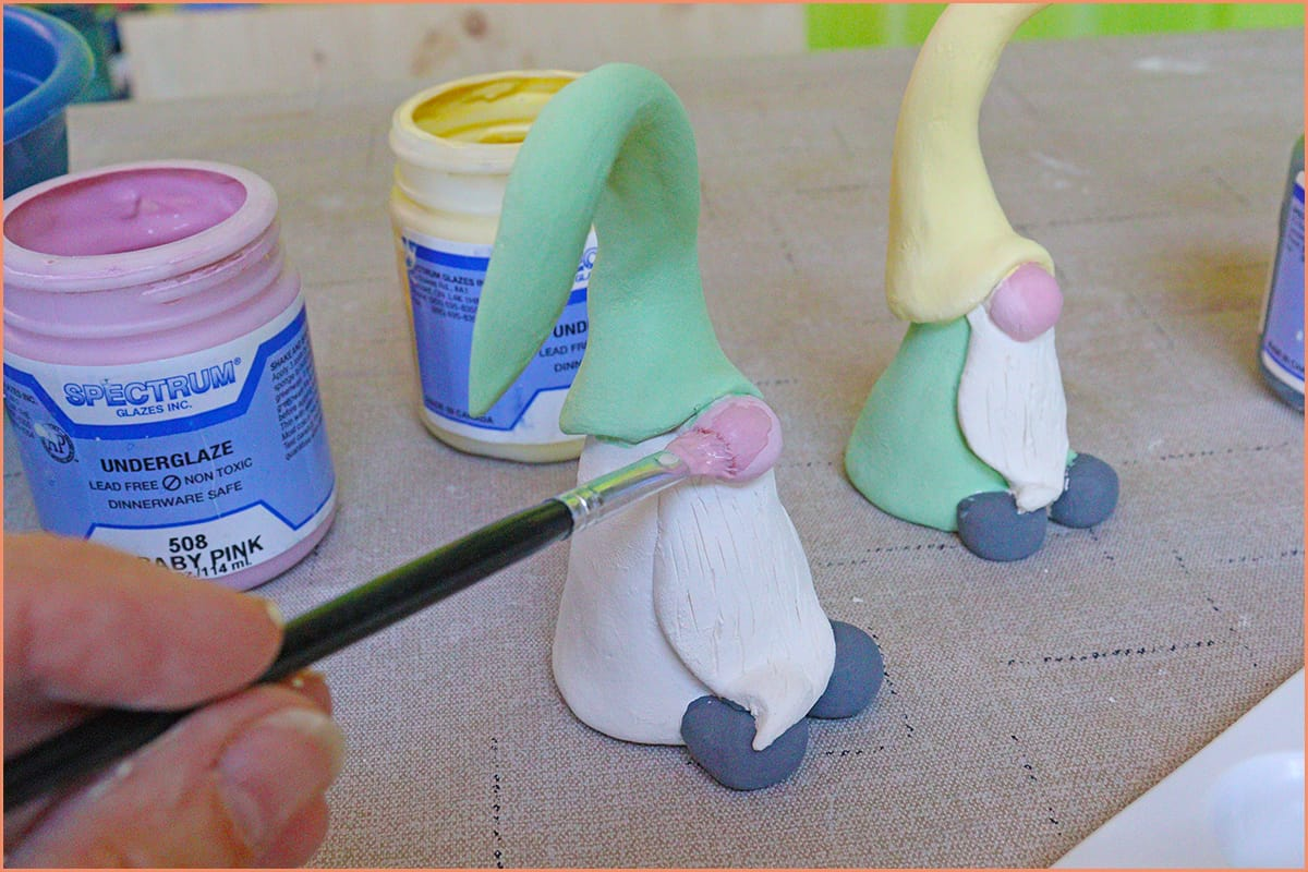 a picture of painting with Painting with underglaze