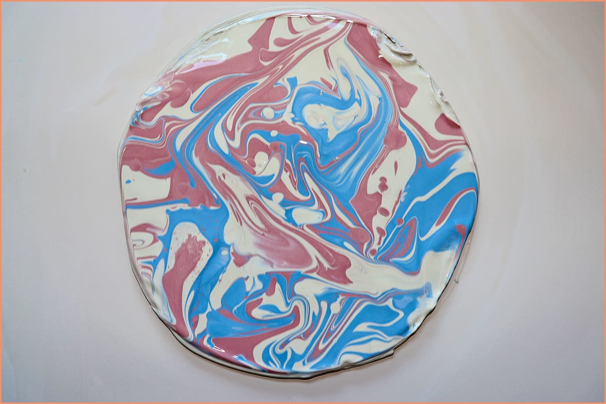 a picture of slip marbling