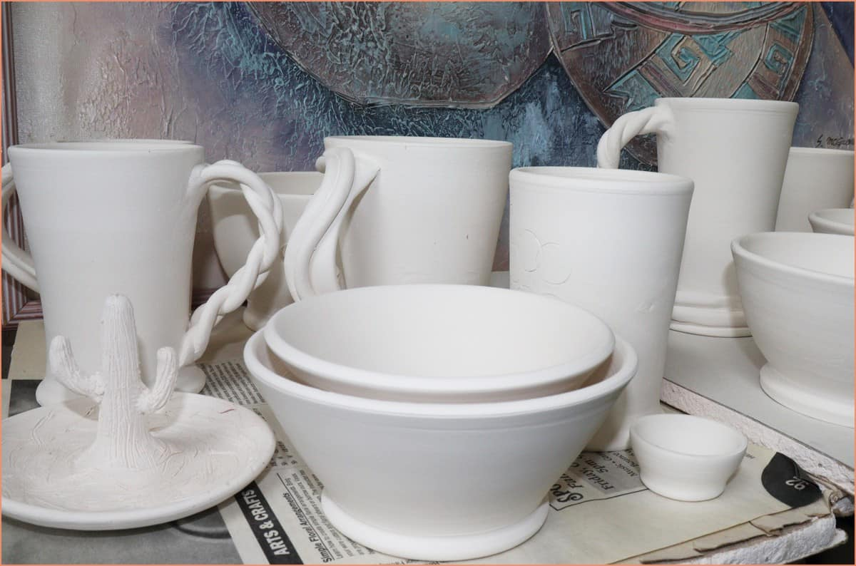 picture of bisqueware