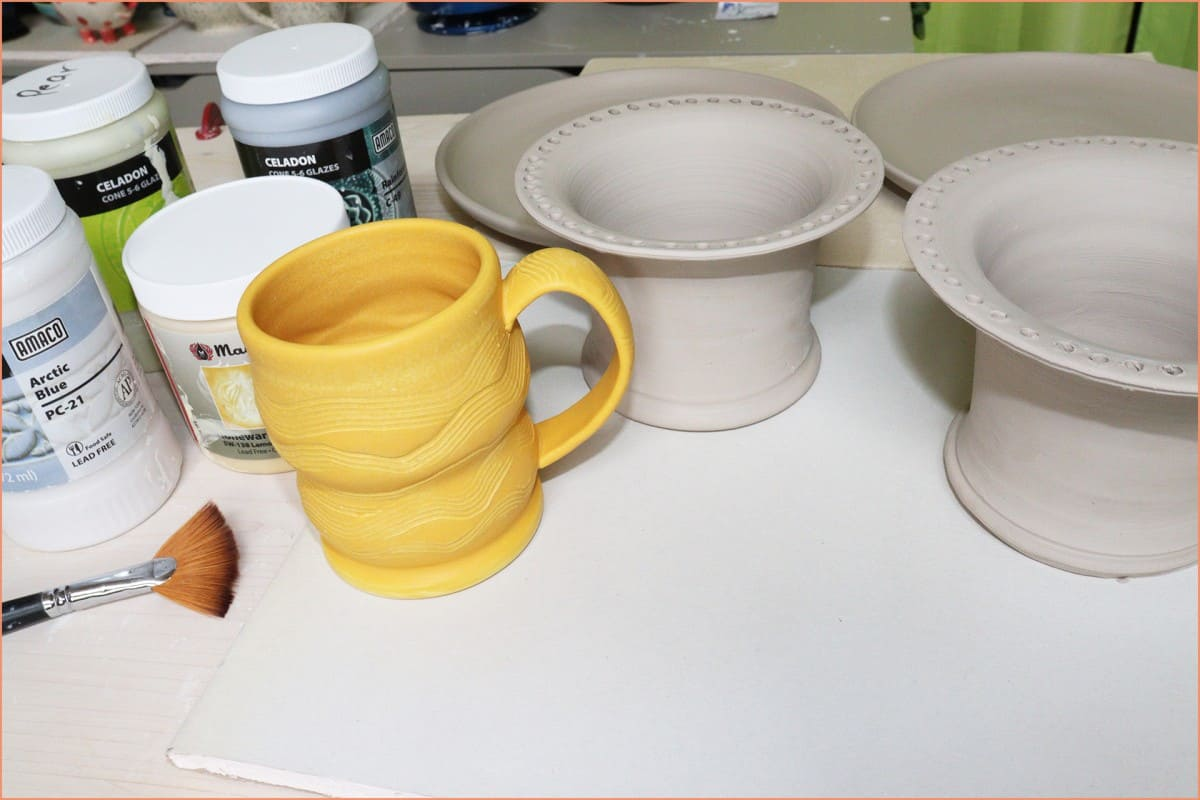 picture of glazed greenware