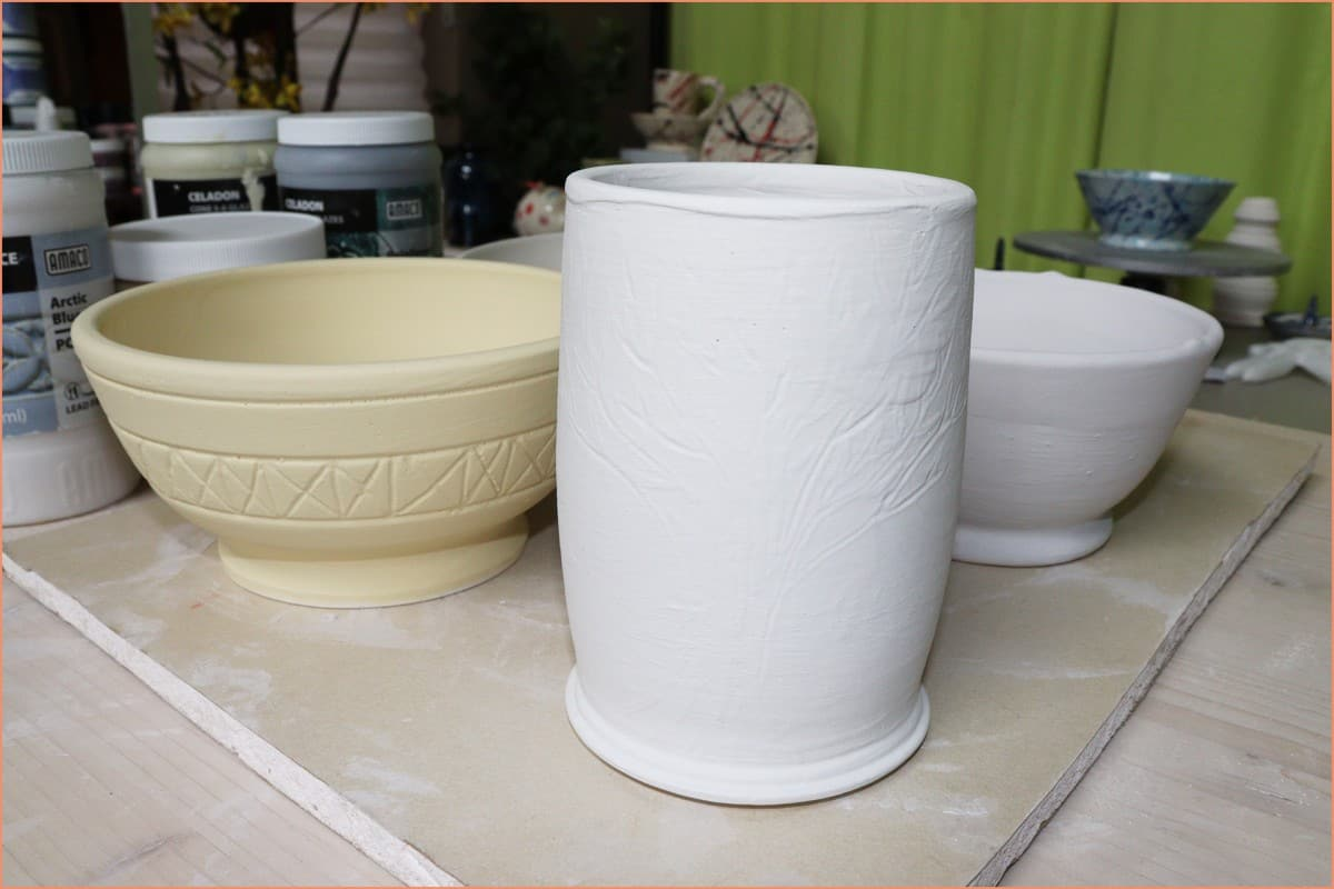 Picture of glazed pottery