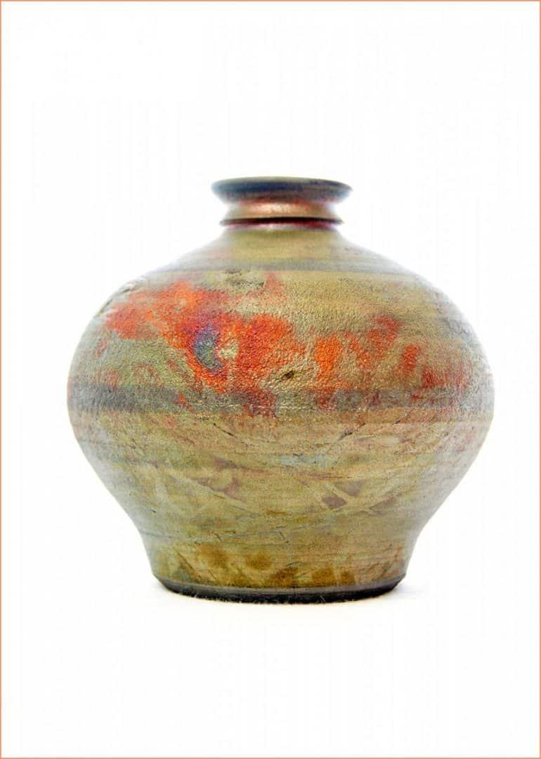 a picture of a Raku pot