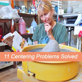 a potter solving centering problems