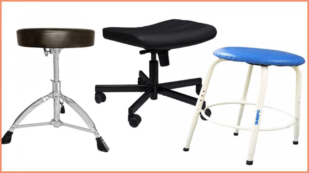 a picture of three potter stools