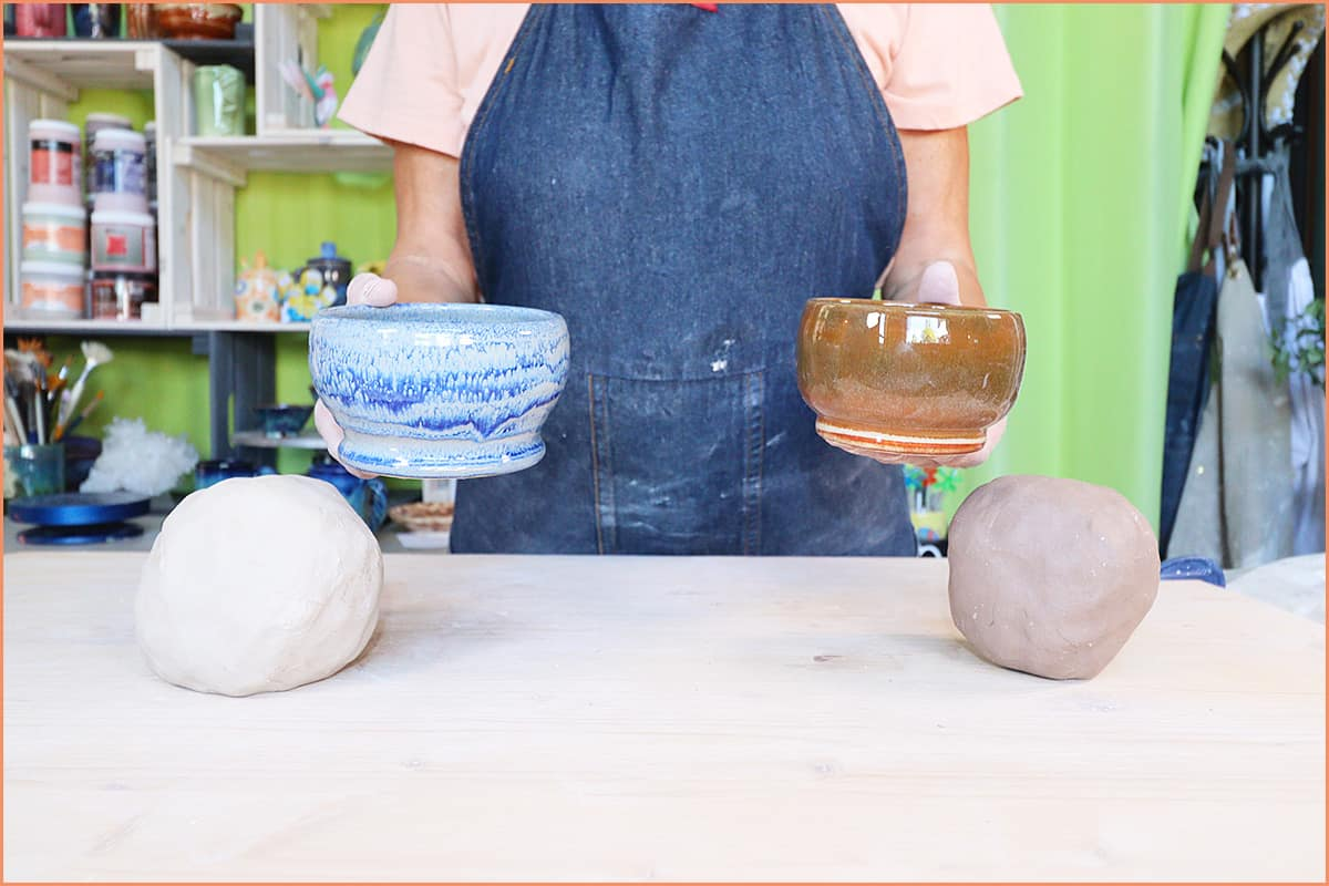 a picture of 2 pieces and clay